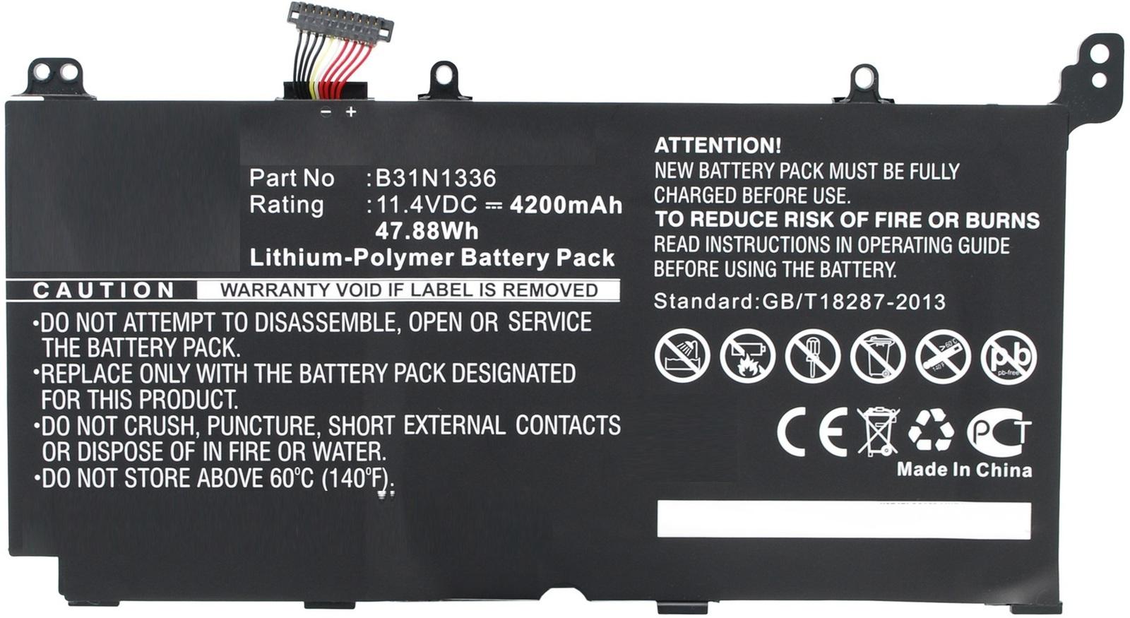 MicroBattery Laptop Battery for Asus 47.88Wh Li-Pol 11.4V 4200mAh MBXAS-BA0034 - eet01