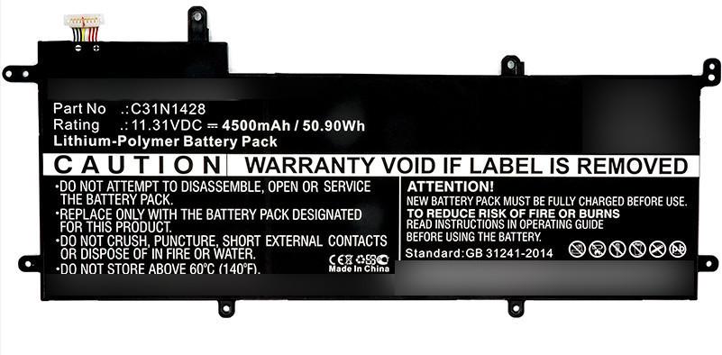 MicroBattery Laptop Battery for Asus 51Wh Li-Pol 11.31V 4500mAh MBXAS-BA0105 - eet01