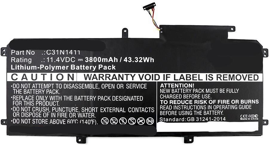 MicroBattery Laptop Battery for Asus 43Wh Li-Pol 11.4V 3800mAh MBXAS-BA0115 - eet01