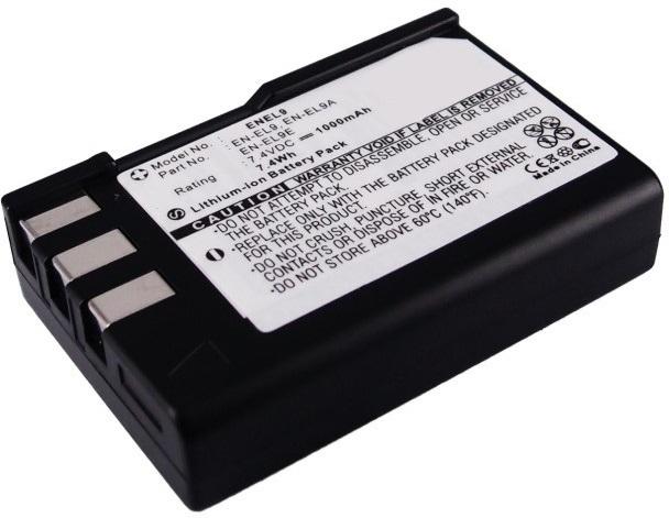 MicroBattery Camera Battery for Nikon 7.4Wh Li-ion 7.4V 1000mAh MBXCAM-BA235 - eet01
