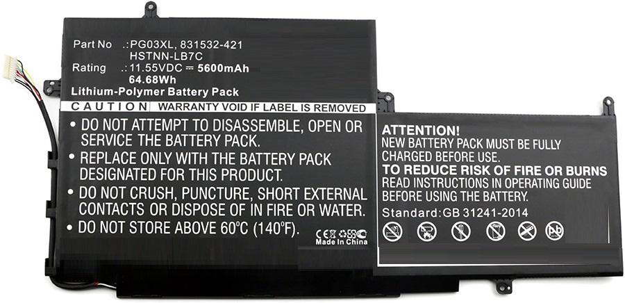 MicroBattery Laptop Battery for HP 64.68Wh Li-Pol 11.55V 5600mAh MBXHP-BA0065 - eet01