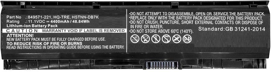 MicroBattery Laptop Battery for HP 48.84Wh Li-ion 11.1V 4400mAh MBXHP-BA0077 - eet01