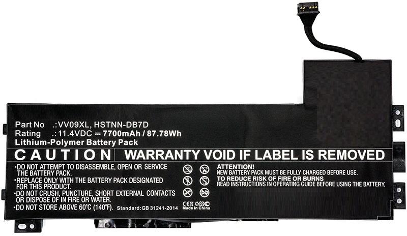 MicroBattery Laptop Battery for HP 87.78Wh Li-Pol 11.4V 7700mAh MBXHP-BA0088 - eet01