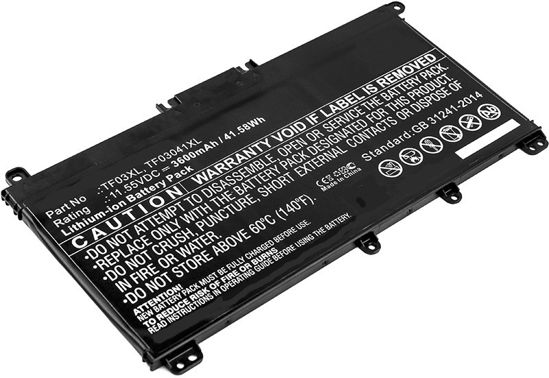 CoreParts Laptop Battery for HP 42Wh Li-ion 11.55V 3600mAh MBXHP-BA0089 - eet01