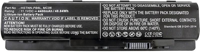 MicroBattery Laptop Battery for HP 48.84Wh Li-ion 11.1V 4400mAh MBXHP-BA0108 - eet01