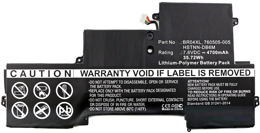 CoreParts Laptop Battery for HP 36Wh Li-Pol 7.6V 4600mAh MBXHP-BA0118 - eet01