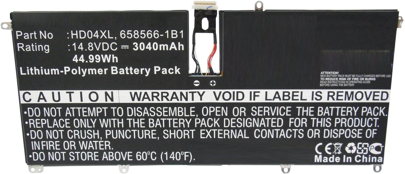 MicroBattery Laptop Battery for HP 44.99Wh Li-Pol 14.8V 3040mAh MBXHP-BA0151 - eet01