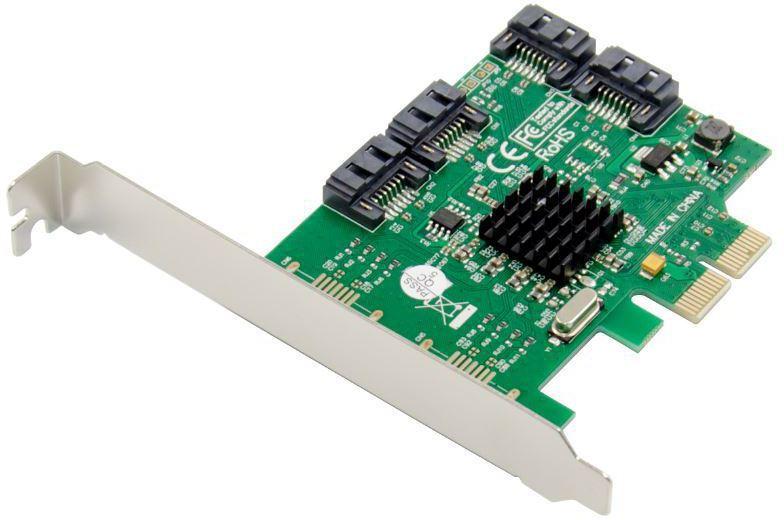 MicroConnect PCIe Marvell SATA III SSD 4-Channel SSD RAID Card MC-PCIE-88SE9230-4 - eet01