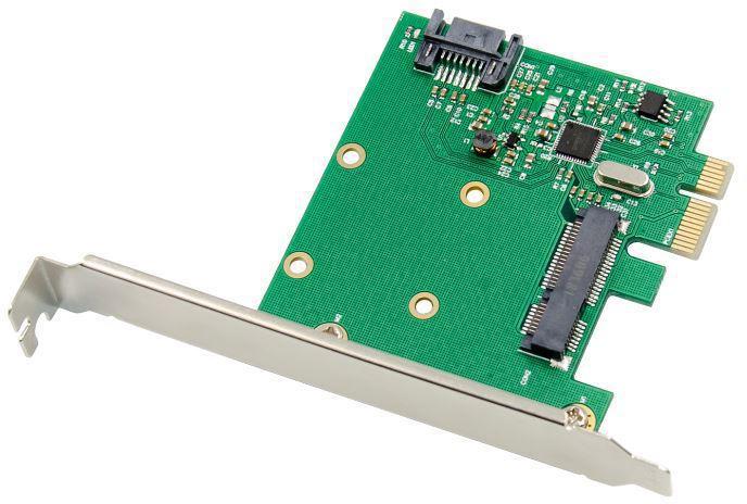 MicroConnect PCIe ASM1061 mSATA III NGFF 6Gbps Expansion Card MC-PCIE-ASM1061 - eet01