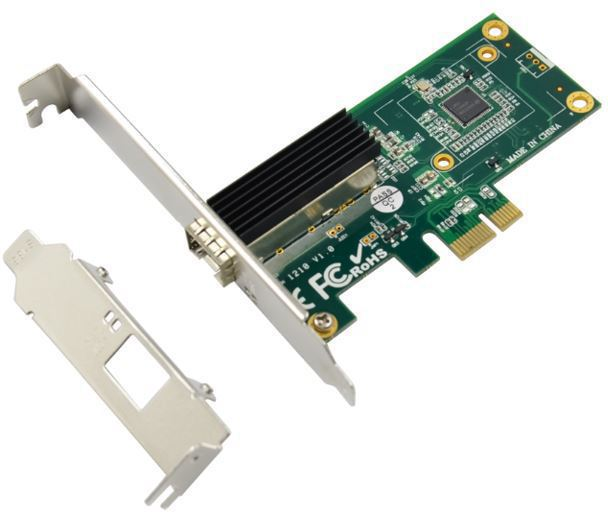MicroConnect 1port SFP Ethernet Server PCIe NIC, Chipset: Intel WGI210AS MC-PCIE-INT210 - eet01