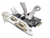 MicroConnect 1 port Parallel, 2 port Serial PCIe card, Chip : MSC9901 MC-PCIE-MCS1P2S - eet01