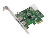 MicroConnect USB 3.0 2 Port PCIe Card Main chip : NEC 720200 MC-USB-NEC3.0 - eet01