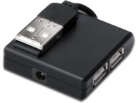 MicroConnect USB 2.0 High-Speed Hub 4-Port 4x USB A/F, 1x USB B mini/M MC-USB2.0HUB4P - eet01
