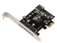 MicroConnect 4 port USB 3.0 PCIe card Main chip : VL805 MC-USB3.0-F3B1 - eet01