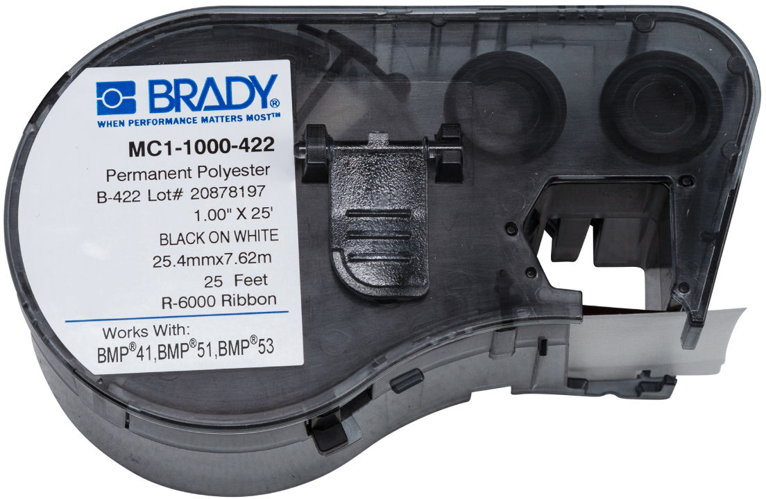 Brady Black on White 1 in W x 25 ft L MC1-1000-422 - eet01