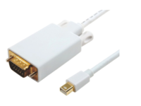 MicroConnect Mini Displayport-VGA M-M White 2m, Active converter cable MDPVGA4W - eet01