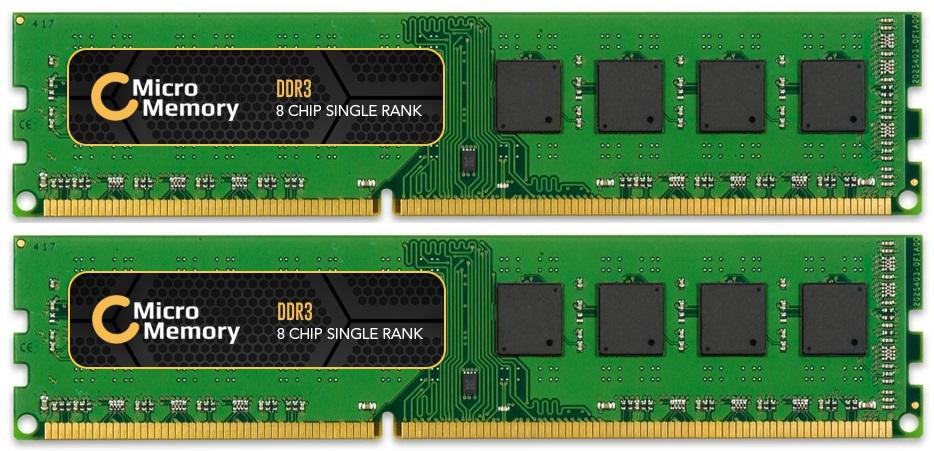 MicroMemory 8GB Memory Module 1600MHz DDR3 (2x 4GB Kit) MMKN043-8GB - eet01