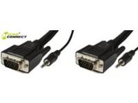 MicroConnect SVGA HD15 15m M-M. 3.5MM 2X 3.5MM 30CM & 62CM M-M MONGG15BMJ - eet01