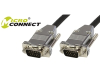 MicroConnect SVGA HD15 20m M-M Black DoubleShielded w/Metal MONGG20B-METAL - eet01
