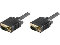 MicroConnect SVGA HD15 7m M-M Black DoubleShielded 1900x1200 MONGG7B - eet01