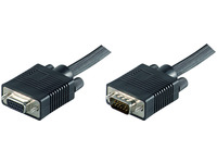 MicroConnect SVGA HD15 10m M-F Extension DoubleShielded Black MONGH10B - eet01