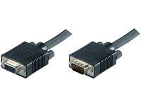 MicroConnect SVGA HD15 15m M-F Extension DoubleShielded Black MONGH15B - eet01