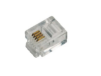 LogiLink Modular Plug for flat cables, RJ11 6P4C MP0018 - eet01