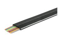 MicroConnect Telephone flat 8wires 100m Black, CCA MPK100-8CCAB - eet01
