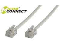 MicroConnect Modular Straight RJ12 6C/6P 3m White MPK103 - eet01