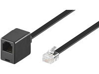 MicroConnect Modular Straight RJ12 6C/6P 3m Black Male - Female MPK103FB - eet01