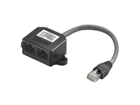 MicroConnect Y-ADAPTER RJ45-2xRJ45 M/F 8P Pinout 1:1 15cm cable MPK418 - eet01