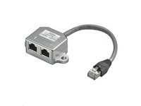 MicroConnect Y-ADAPTER RJ45-2xRJ45 M/F 8P Pinout CAT 5 Ethernet + ISDN MPK419 - eet01