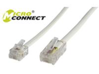 MicroConnect RJ11-RJ45 3M M/M White 6P/4C-8P/4C MPK453 - eet01