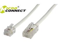 MicroConnect RJ11-RJ45 6M M/M White 6P/4C-8P/4C MPK456 - eet01