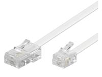 MicroConnect RJ11-RJ45 15M M/M White 6P/4C-8P/4C MPK463 - eet01