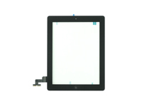 MSPP2302 MicroSpareparts Mobile Touch Panel Assembly Black IPad 2 including glas - eet01