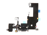 MSPP5010 MicroSpareparts Mobile Phone jack&Dock connector flex IPhone 5 Black - eet01