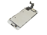 MicroSpareparts Mobile LCD with Digitizer and Frame Full Assembly White iPhone 5S MSPP5121FA - eet01