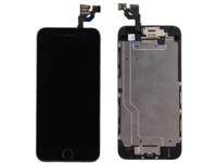 MicroSpareparts Mobile IPhone 6 LCD Display Black Touch screen and Glass, MSPP6400B-AIO - eet01