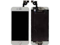 MicroSpareparts Mobile IPhone 6 LCD Display White Touch screen and Glass, MSPP6400W-AIO - eet01