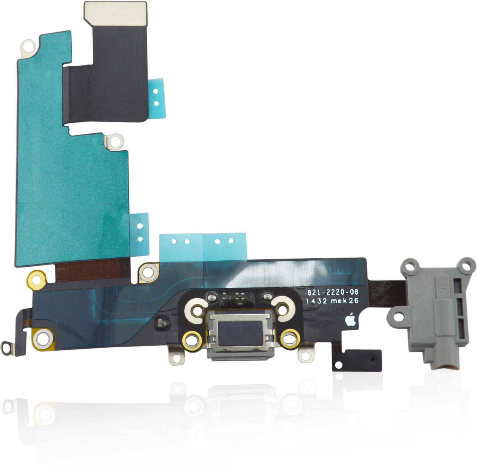 MicroSpareparts Mobile Apple iPhone 6 Plus Headphone Jack with Dock Connector Flex MSPP70001 - eet01