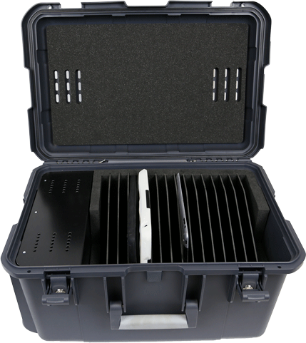 Leba NoteCase for 16 tablets Incl. 20 ports USB A NCASE-16TAB-USB-SC - eet01