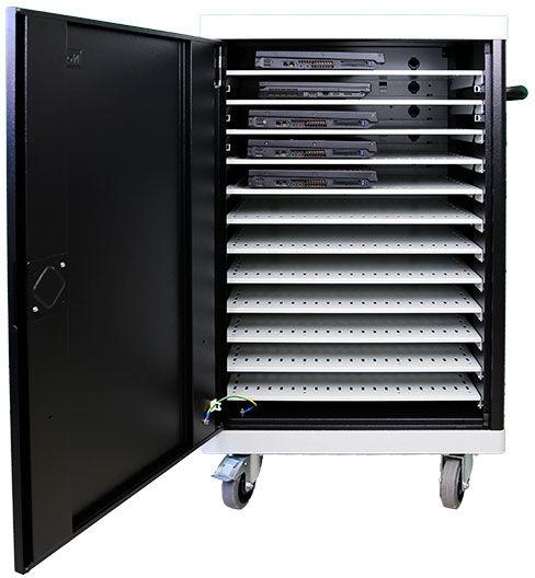 Leba NoteCart UniFit for 12 Laptops Horizontal storage for Laptops NCU-12-FH-SC - eet01
