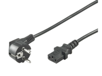 MicroConnect Power Cord 2m Black IEC320 Angled Connector Schuko PE0104020 - eet01