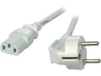 MicroConnect Power Cord 1.8m Grey IEC320 Angled Connector Schuko PE010418G - eet01