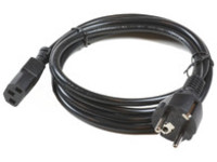 PE020405 MicroConnect Power Cord 0.5m Black IEC320  - eet01