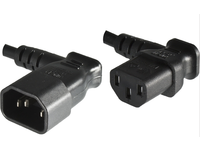 MicroConnect Power Cord 0.4m Extension C13-C14, 90 angled Black. PE040604 - eet01