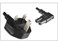 MicroConnect Power Cord UK Notebook C7 1.8m Type G, BS 1363 - C7 angled PE090718A - eet01