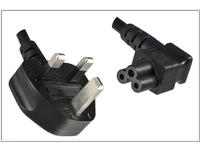 MicroConnect Power Cord UK / C5 Angled 3m Power UK Type G to C5 Angled PE090830A - eet01