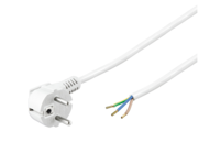 PE14020SOW MicroConnect Power Cord 2m Schuko/Open Angled Schuko/open end,white - eet01